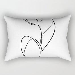 tulpip line art, one line minimal art,Abstract , Art Lines, Minimal,  Art Minimalistic, Picasso Rectangular Pillow
