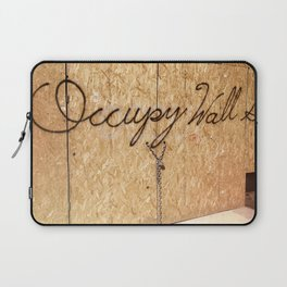 Occupy Wall Street on Storefront Photo Laptop Sleeve