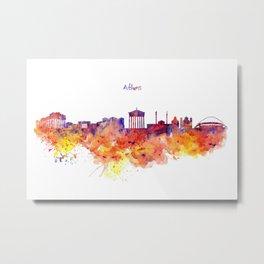 Athens Skyline Metal Print