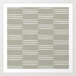 stripes offset-stone Art Print