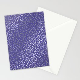 Periwinkle Berry Branches Stationery Cards