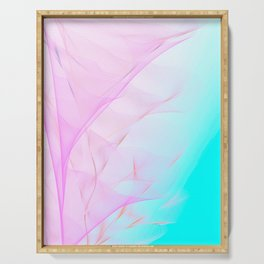 Pastel Motion Vibes - Pink & Turquoise #abstractart #homedecor Serving Tray