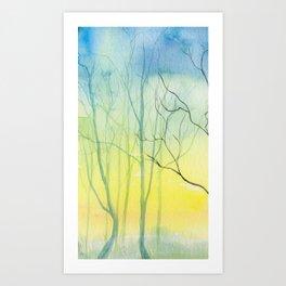 Watercolor (cool woods) Art Print