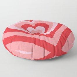 70s psychedelic pink heart Floor Pillow