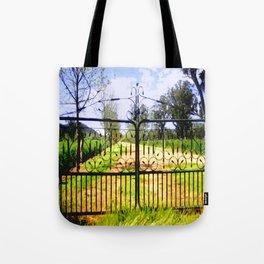 Wrought Iron Vintage Farm Gate Tote Bag