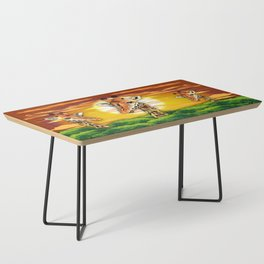 Giraffe on Wild African Savanna Sunset Coffee Table