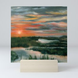 Salt Marsh At Sunset Mini Art Print