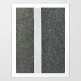 Lean left Art Print