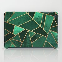 copper iPad Cases featuring Emerald and Copper by Elisabeth Fredriksson
