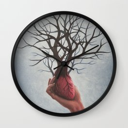Nourishing Heart Wall Clock