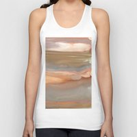 agate Tank Tops featuring Peach Agate by Amie Amyotte