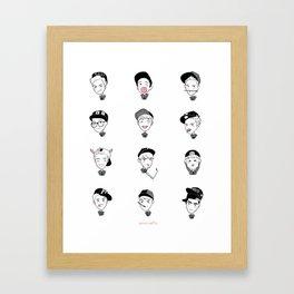 exo yearbook Framed Art Print