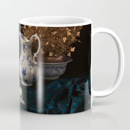 Green apples and china still life Coffee Mug