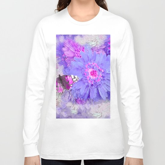 Daisy and Butterfly Long Sleeve T-shirt