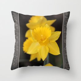 Trumpet Daffodil named Exception Throw Pillow