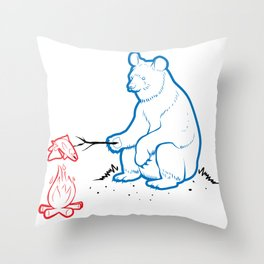Da Bears - Camping Throw Pillow