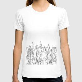 Glasgow, Scotland UK Skyline B&W - Thin Line T-shirt