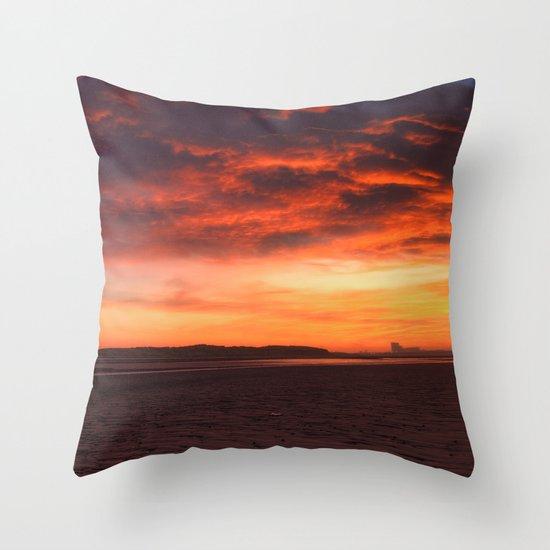 Scarlet Sunrise Throw Pillow