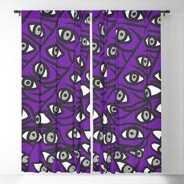 Freddie Eyeballs Ultraviolet Blue Purple Blackout Curtain