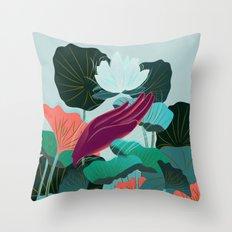Lotus Magic - 05 Throw Pillow