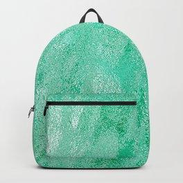 Neon Aqua Metallic Foil Backpack