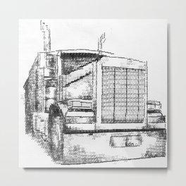 Typewritten Truck Metal Print