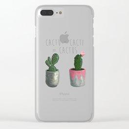 Cactu + Cacti = Cactus Clear iPhone Case