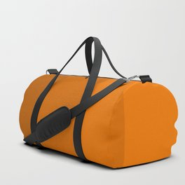 Orange Brown Stripes Duffle Bag