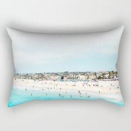 Travel Photography Love The Aqua Ocean Beach Rectangular Pillow