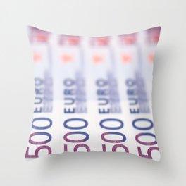 500 Euros Throw Pillow