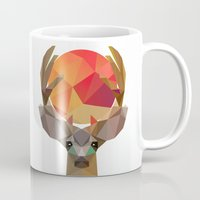 deer Mugs featuring deer by mark ashkenazi