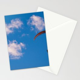 Paragliding Through Blue Skies Stationery Cards