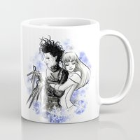 edward scissorhands Mugs featuring Edward scissorhands by Sorcière et chocolat