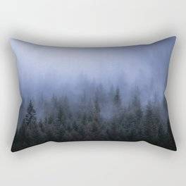 Foggy Forest Rectangular Pillow