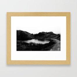 Fairy Glen, Isle of Skye, B/W Framed Art Print