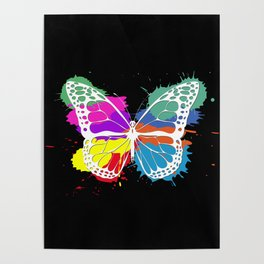 Grunge butterfly Poster