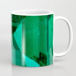 FACETED EMERALD GREEN MAY GEMSTONE Coffee Mug