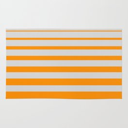 Orange digital horizons Rug