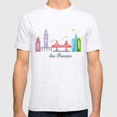 what a colorful city San Francisco, CA.  X-LARGE Ash Grey Mens Fitted Tee