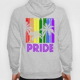Riviera Maya Pride Gay Pride LGBTQ Rainbow Palm Trees Hoody