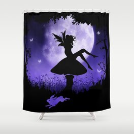 fairy in the moonlight Shower Curtain