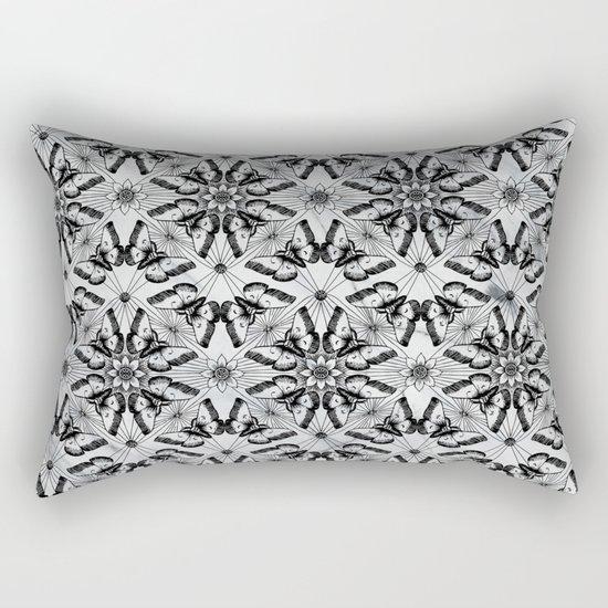 Marble black butterfly pattern Rectangular Pillow