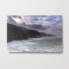 Cape Arago's Rigid Coastline at Sunrise Metal Print