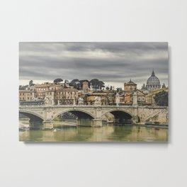 Tiber River Rome Cityscape Photo Metal Print