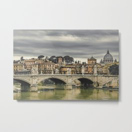 Tiber River Rome Cityscape Photo Metal Print