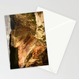Yellow Rocks Of The Yellowstone Valley Stationery Cards
