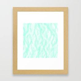 Pastel Mint Waves Framed Art Print