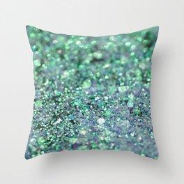 Underwater Mermaid Glitter #1 #shiny #decor #art #society6 Throw Pillow