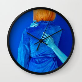 lissy as me (blue study) Wall Clock