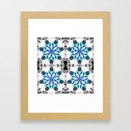 Enchanted Frozen Snowflakes Framed Art Print